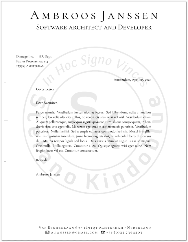 Sample letter with logo